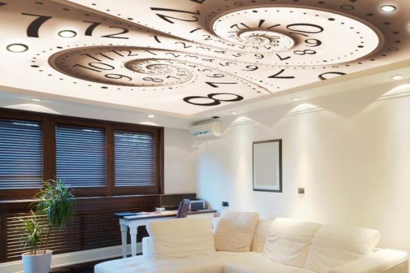 Кухонный гарнитур с натяжным потолком небо фото мышечной массы